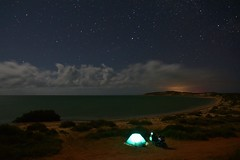 Eagle Bluff (~Jek~) Tags: aus australia eaglebluffcampingarea geo:lat=2607731559 geo:lon=11358102411 geotagged sharkbayworldheritagearea westernaustralia motorcyclecamping motorcycletouring triumphtiger800xrx triumph triumphmotorcycles fortheride triumphtiger adventurerider tent camping sharkbay eaglebluff denham nightsky stars campingunderthenightsky beachcamping worldheritagearea motorbike xrx cloudsatnight nikond7100