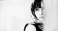 ... all your side   (self) (Georgina ) Tags: monochrome blackandwhite people portrait self scarf highcontrast athens greece greekgirl beautifulwoman prettywoman lovely intense mystery
