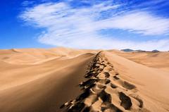 Burning Hills (PixStone) Tags: west sand sharp landscape great dunes warm nature national park sangre cristo colorado colorful usa desert sun sky clouds footsteps