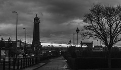 Tower (BenHeathPhotography) Tags: colour canon city cityscape color colourful canon60d colorful composition college cold contrast crane clouds christmas vintage viewpoint view vibrant overcast love university travel blackandwhite britain building black beautiful british benheathphotography beauty buildings bw new monochrome manchester modern memory market monument mancunian washedout wow dslr december slow shutter speed shutterbug student skyscape street dark explore england exposure endless