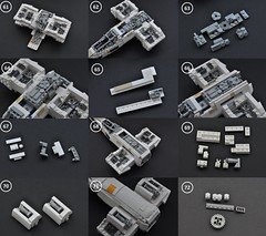 T-65 X-wing: V2 (instructions  Page 6) (Inthert) Tags: lego t65 fighter sfoils x wing starfighter moc ship star wars rebel rogue one squadron income red5 r2d2 luke skywalker instructions breakdown astromech blue