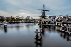Winter Night (carina1858) Tags: holland netherland windmill lake water longexposure shutter winter landscape city nature
