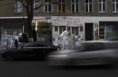 Kreuzberg, Berlin (lady_barbona) Tags: street berlin kreuzberg oranienstrasse occupy urbanart urban streetart alternative architecture contrast simmetry movement buildings abandoned cars