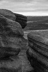 Gritty (l4ts) Tags: landscape derbyshire peakdistrict darkpeak stanageedge gritstone gritstoneedge gritstonetors derwentvalley blackwhite