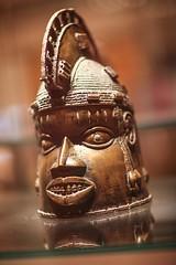 Brass Helmet Mask (endorphin75) Tags: 2016 oduda benin brass britain city empire england global great helmet kingdom london mask ritual sightseeing united yoruba unitedkingdom