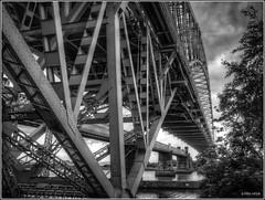 Silver Jubilee Bridge (mobilevirgin) Tags: fuji hdr runcorn x10 widnes thebridge silverjubileebridge runcornwidnesbridge
