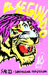 Fiesta El Segundo (amedo) Tags: party illustration word fiesta tiger el hiphop asuncion hip hop rap tigre tupac segundo ilustracion shakur