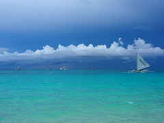 sail me away (alessa.mary) Tags: blue green beach clouds sailboat paradise wind philippines sail boracay