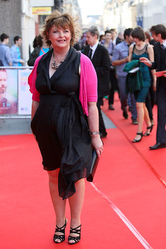 Fiona Hyslop arriving on the red carpet for Breathe In at the Festival Theatre