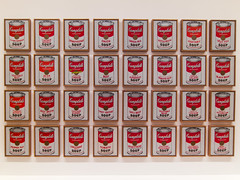 Campbells soup at the MoMa (chilirv) Tags: nyc newyork museum soup design moma warhol campbells