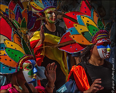 Colourful Masks (angeladj1) Tags: carnival southwales cardiff parade masks masquerade cardiffcarnival2013