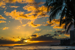 Waikiki Sunset (fate atc) Tags: color beach water hawaii surf tropical waikikisunset
