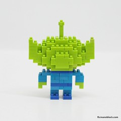 Toy Story Alien (inanoblock) Tags: movie toy lego toystory bricks alien disney pixar instructions blocks build nanoblock  nanoblocks