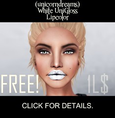 FREE UNICORN DREAMS UNIGLOSS LIPCOLOR! (Sylvia Koonz (Miyuko101)) Tags: life color fashion free lips clothes second lip stick lipstick