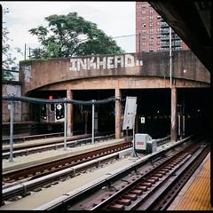 Brooklyn F train (Dmitry Prushak) Tags: nyc brooklyn train bronica f medium format sqb inkhead
