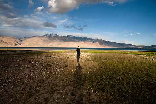 Just by the lake, Ladakh, India
