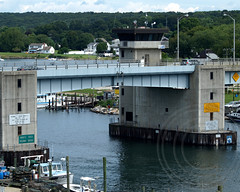 Niantic River Highway Bascule Bridge over the Niantic River, East Lyme-Waterford, Connecticut (jag9889) Tags: bridge river puente mainstreet crossing connecticut bridges ct ponte kayaking pont 1991 draw brcke paddling waterford waterway movable bascule eastlyme newlondoncounty route156 2013 ct156 doubleleaf nianticriver jag9889 k853 nianticriverhighwaybridge ropeferryroad