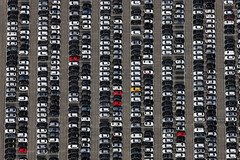 Sea Of Cars (Aerial Photography) Tags: auto car by automobile traffic aerial rows nd vehicle parallels audi deu luftbild yellowcar luftaufnahme obb pkw bayernbavaria deutschlandgermany redcars reihen gelbesauto roteautos parallelen karlskron automobilindustrie fotoklausleidorfwwwleidorfde 15092011 probfeld 1ds71053 karlskronlkrneuburgschroben karlskronlkrneuburgschrobenhausen