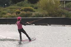 IMG_5457 Wakeboarders at Willen Lake (Geoff D E Clarke (gdeclarke)) Tags: lake ski water sigma milton keynes 70300mm wakeboarder willen canoneos1100d