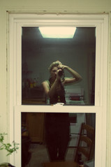 The McIlmail Rice and Beans Factory (Sappho Adrienne) Tags: life light house selfportrait college home window kitchen mirror punk grunge