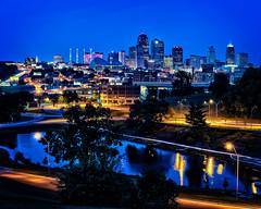 KC Skyline_TOM6397-HDR (tfinzel) Tags: city skyline night cityscape mo clear kansas hdr