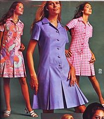 Spiegel 70 SS purple print (jsbuttons) Tags: vintage clothing purple buttons spiegel womens clothes button 70s catalog 1970 seventies pleated vintageclothing vintagefashion buttonfrontdress