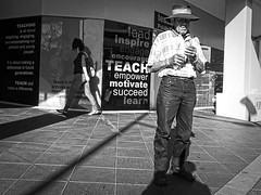 Breakfast (Vincent Albanese) Tags: morning bw breakfast australia blacktown streetphoto inspire teach lead learn encourage engage motivate succeed empower fujix20 fujifilmx20
