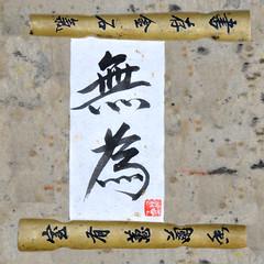 """Wu Wei"" -:- 0111 (buddhadog) Tags: chinese calligraphy 700 laotse 500x500 wuwei taoteching liunan whatwillbewillbe goingwiththeflow daodeching nikonflickraward orientalland taotehking todowithoutdoing 500vu"