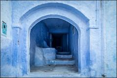 blue entrance... (frmorais) Tags: chefchaouen marrocos mef