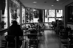 Restaurante particular (renanluna) Tags: light blackandwhite man luz window private alone fuji shadows chairs restaurante tables contraste fujifilm janela arrow seta homem pretoebranco sombras monocromia cadeiras mesa privado contrat sozinho restaurat renanluna fujifilmx100