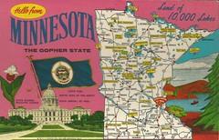 Minnesota (tico_manudo) Tags: minnesota maps mapas thegopherstate mapcards