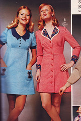 Pennys 73 fw blue pink (jsbuttons) Tags: pink blue clothing buttons womens clothes 70s catalog seventies 1973 73 pennys jcpenny vintagefashion buttonfrontdress