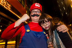 Halloween Party  - What are you doing Mario? (Keith Mulcahy) Tags: party people hongkong festivals streetphotography mario haloween lkf centraldistrict 2013 canon2470mmf28 streetparades canon5dmk3 october2013 keithmulcahy blackcygnusphotography ppa7a0 ppd56c