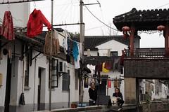 Laundry day (D70) Tags: china girls river canal suzhou delta laundry yangtze region teenage veniceoftheeast