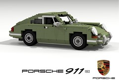 Porsche 911 - 1963 (lego911) Tags: auto birthday original classic car germany model lego anniversary render 911 german porsche 72 coupe challenge 6th cad sportscar lugnuts 1963 1960 povray moc ldd miniland foitsop lego911 911a lugnuts6thanniversary
