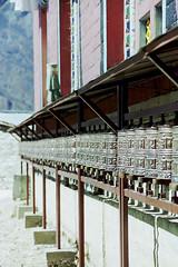 Prayer wheels at Tengboche monastery, Nepal (Miche & Jon Rousell) Tags: nepal snow mountains ice trekking rocks glacier clear monastery himalaya everest tengboche sagarmatha khumbuglacier sagarmathanationalpark tengbochemonastery eightthousandmetrepeaksday