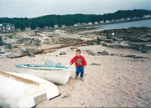 Stuart Elliot at Millport beach 1990s