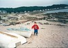 Stuart Elliot at Millport beach 1990s