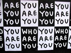 You Are You (edenpictures) Tags: newyorkcity november autumn streetart fall poster manhattan identity