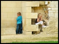Niamh and Ben - Camping L'Etang de la Breche 2008 280 (Maw*Maw) Tags: summer playing castle kids photoshop play hide crop seek hiding
