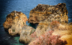 The Edge (rschnaible) Tags: ocean sea cliff seascape color portugal coast sandstone colorful europe cliffs lagos atlantic southern western coastline geology algarve rugged the geologic