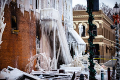 Fire and ice (rg69olds) Tags: canon fire nebraska 6d canondigitalcamera plattsmouth flickritis icecovered canoneos6d quarthouse canonef70200mmf28lisiiusm