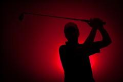 red sports silhouette club self golf mood swing spotlight drama