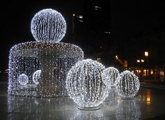 Christmas lights and reflections (catb -) Tags: christmas reflection night germany lights frankfurt ixus fa