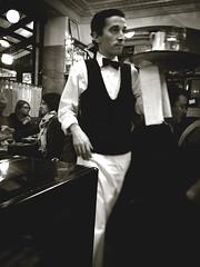 Paris. Café de Flore. Garçon. (angelina_ova) Tags: people bw man paris france art love café architecture vintage photography europe omelette garçon cafédeflore iphoneography instagramapp