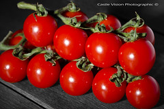 Cherry Tomatoes (CastleVision Photographic) Tags: cherry tomatoes selectivecolour