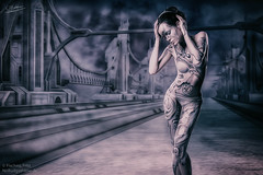 Bridge (NoBudgetPhoto.de) Tags: dark person women bodypaint menschen sciencefiction darkart mensch composing ffart