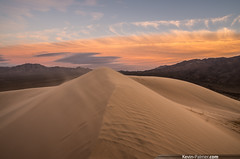 Kelso Summit (kevin-palmer) Tags: california blue winter sunset sky orange yellow clouds evening sand colorful view desert wind dusk dunes january scenic windy blowing sanddunes mojavedesert gust kelsodunes mojavenationalpreserve granitemountains kevinpalmer tamron1750mmf28 sanbernadinocounty pentaxk5