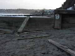 Number nine beam (shaggy359) Tags: wood sea man beach walking bay town seaside sand post walk debris nine 9 pedestrian number walker dorset flotsam posts plank groyne swanage planks seabreak {vision}:{beach}=0505 {vision}:{ocean}=0641 {vision}:{outdoor}=0979