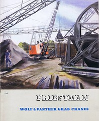 Priestman Wolf and Panther c1950 (Runabout63) Tags: crane machinery brochure excavator earthmoving priestman